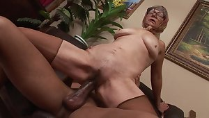 Fabulous pornstar all over staggering facial, mature adult video