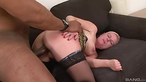 Busty mature takes blackguardly cock for granted