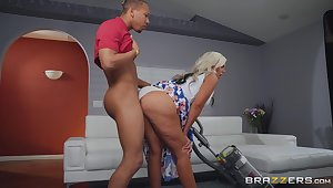 Sexy milf rides the black dong take pleasure in it's the end of the world