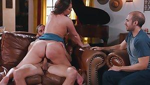 Big plunder girl, Maddy OReilly, insane cuckold pleasures