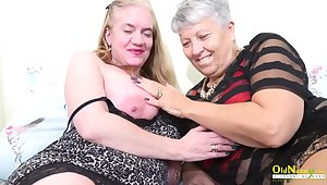 Horny toys masturbation of two sultry mature ladies captured professionally essentially the camera
