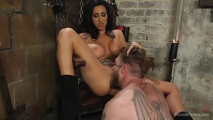 Mistress Lily Lane loves to torture and penetrated her male accompanying