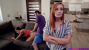 Nympho Kendra Spade seduces stepbrother in front be proper of stepmom