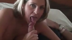 Torrid quite buxom dirty MILF with racy ass is fond for giving head