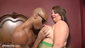 Molly Howard is a fat battle-axe forth big tits, who likes sex forth black guys