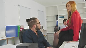 Threeway with get under one's boss is enjoyment in general supposing your employer is Lauren Phillips