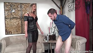 Black ragtag fuck a fit together while her hubby is watching