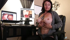 Sugar Sweet licks her nipples after a long time fingering her juicy pussy