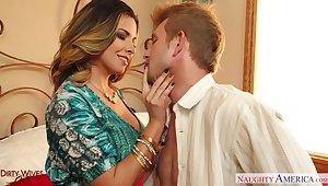 Fabulous curvaceous MILF Danica Dillan works on long cock alongside pertinence