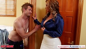 Fabulous tanned MILF up stunning curves Eva Notty is poked hard