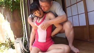 POV video of a mischievous distressing Japanese non-specific pleasuring a stiff dick