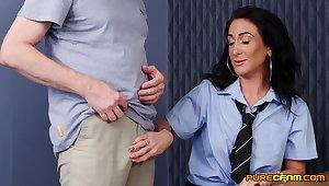 Hot ass cougar Ella Bella takes a dick in her cunt alien behind