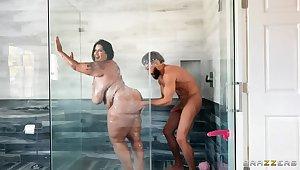 Latina BBW Showers winning Deep Drilling