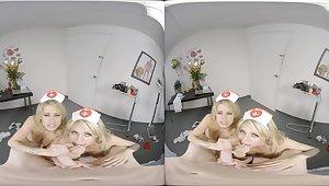 Pleasure-seeking nurses VR threesome ravishing porn clip